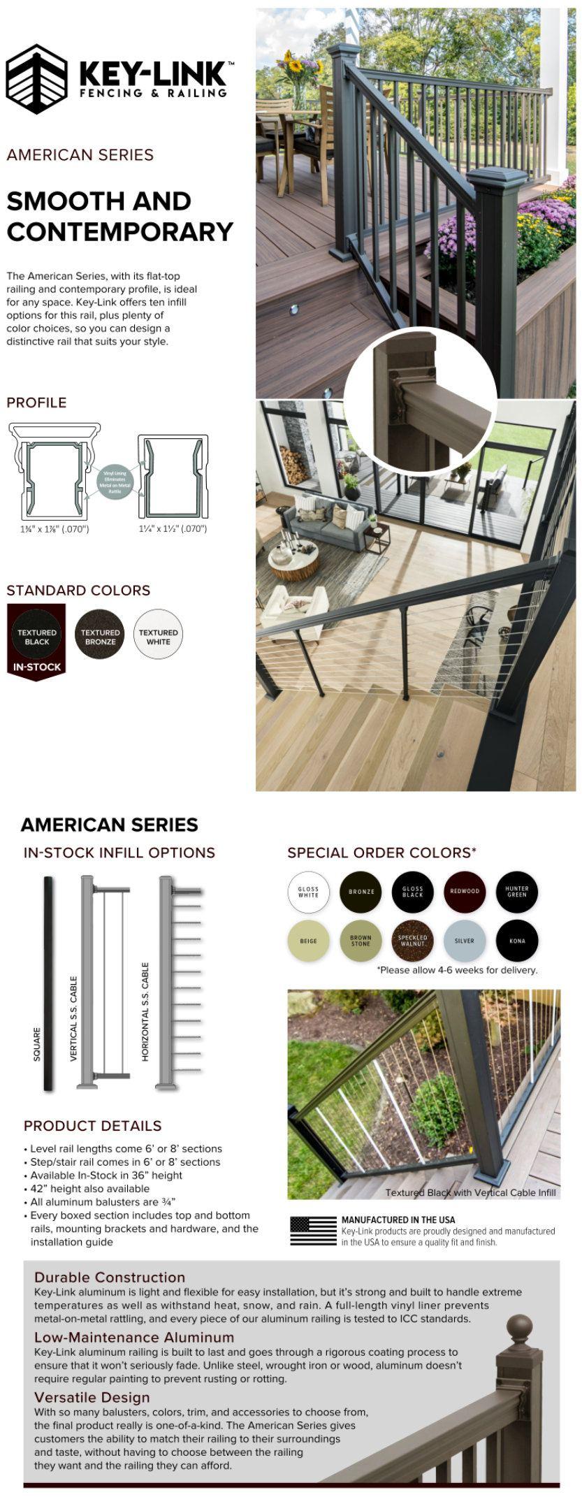 Aluminum Railing - American Series - Dennisville Fence