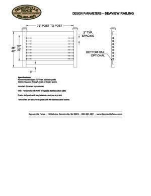 Cable Railing Spec Sheet image