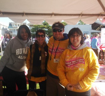 Dennisville Fence's Earle and Kristi Collins at the Ocean City Cancer Walk in 2013 image