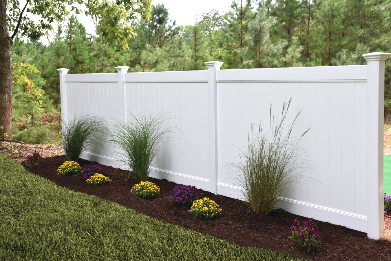 ActiveYards Dogwood Haven Series Vinyl Fencing in White