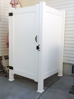 Vinyl Outdoor Shower Enclosure image