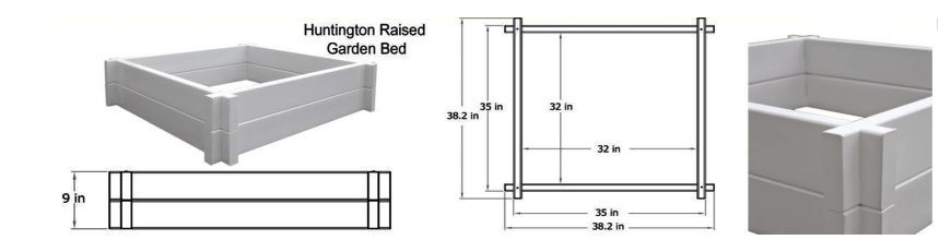 Huntington Raised Garden Bed schematic image