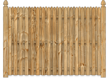 Board On Board Wood Fence - Cedar Straight Simplicity
