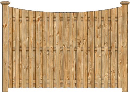 Board On Board Wood Fence - Cedar Single Concave Virginian