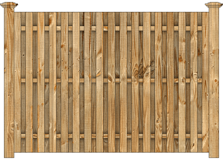 Board On Board Wood Fence - Cedar Straight Virginian