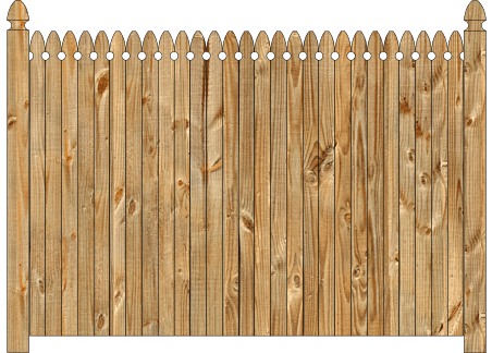 Solid Wood Privacy Fence - Georgian image