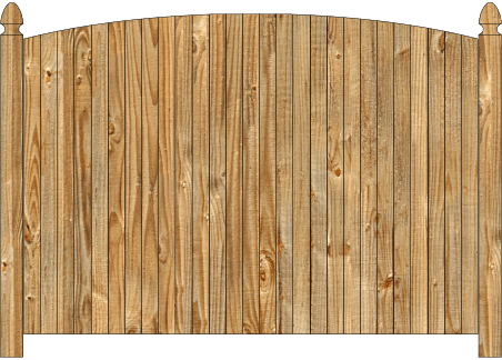 Solid Wood Privacy Fence - Single Convex Virginian image
