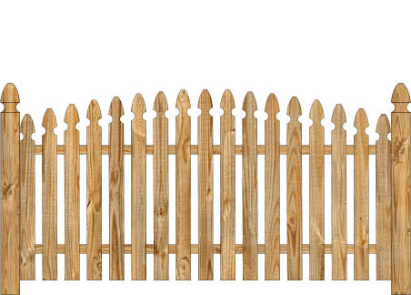 Spaced Picket Wood Fence - Cedar Single Convex Georgian image