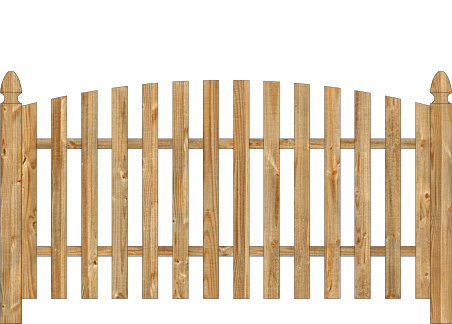Spaced Picket Wood Fence - Cedar Single Convex Virginian image