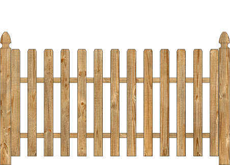Spaced Picket Wood Fence - Cedar Straight Contemporary image