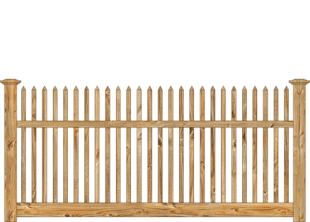 Spaced Picket Wood Fence - Cedar Victorian Straight image
