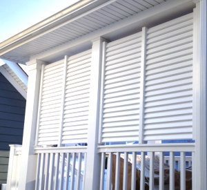 Vinyl Louvered Privacy Walls image
