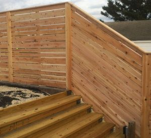 Modern Wood Fence Photo