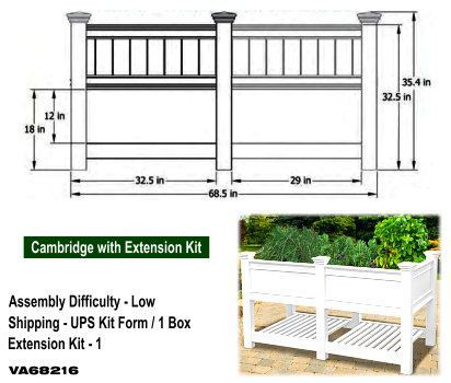 6FT Cambridge Planter Box image