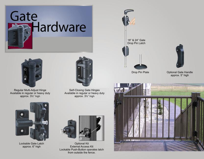 Aluminum Railing Gates and Hardware image 01