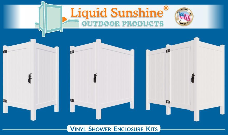 Liquid Sunshine Outdoor Products - High Quality Vinyl Outdoor Shower Enclosure Kits