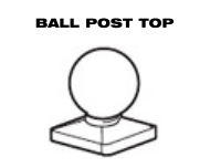 Aluminum Fence - Ball Post Top image