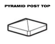 Aluminum Fence - Pyramid Post Top image