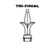 Aluminum Fence - Tri-Finial Post Top image