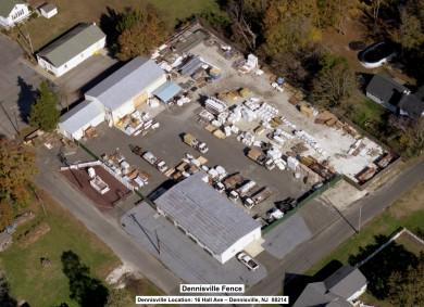 Ariel photo of Dennisville Fence's Villas location at 200 Bayshore Rd. in Villas, NJ