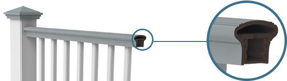 Transform Railing by RDI Features A State Of The Art Resalite Core With Acrylic Cap
