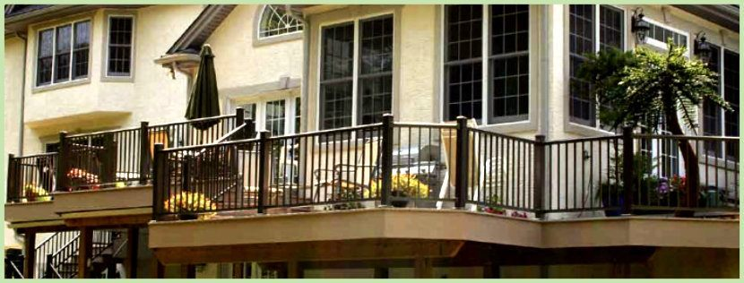 Aluminum Railing installed on a residential balcony image