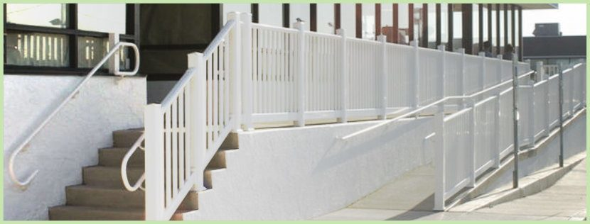 Secondary Handrail installed on handicap ramp accessway