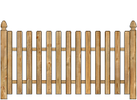 Spaced Picket Wood Fence image