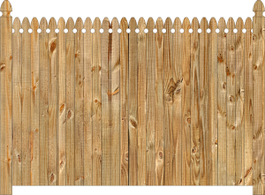 Wood fence, cedar straight georgian - w140, privacy fence section large image