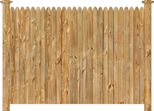 Wood fence, cedar straight simplicity - w130, privacy fence section, large image