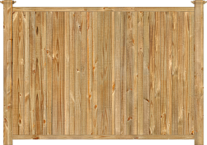 Wood fence, cedar tongue and groove privacy fence section, large image